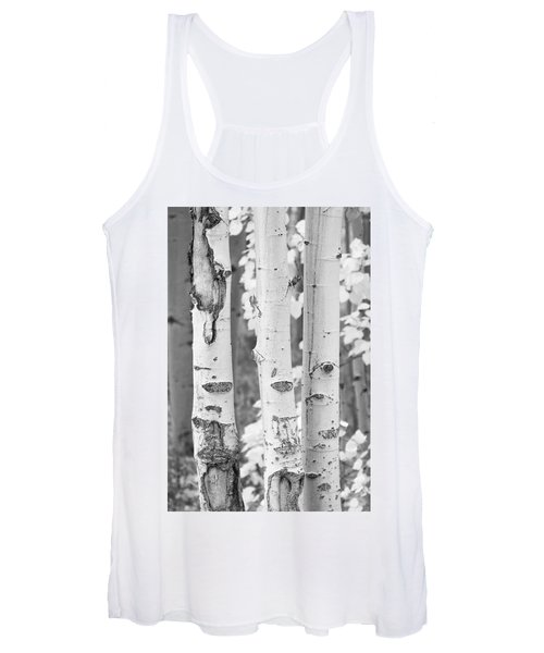 Three Aspens In Black And White  Women's Tank Top
