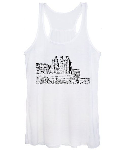 Three Gossips Drawing Women's Tank Top