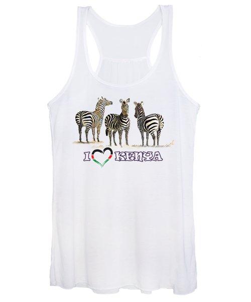 Three Zebras In Kenya Women's Tank Top