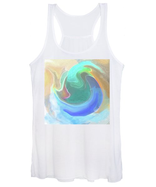 Women's Tank Top featuring the digital art Tidal Pool by Gina Harrison