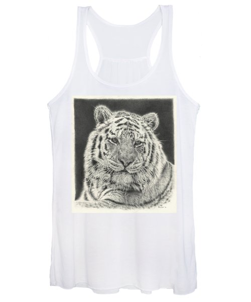Tiger Drawing Women's Tank Top