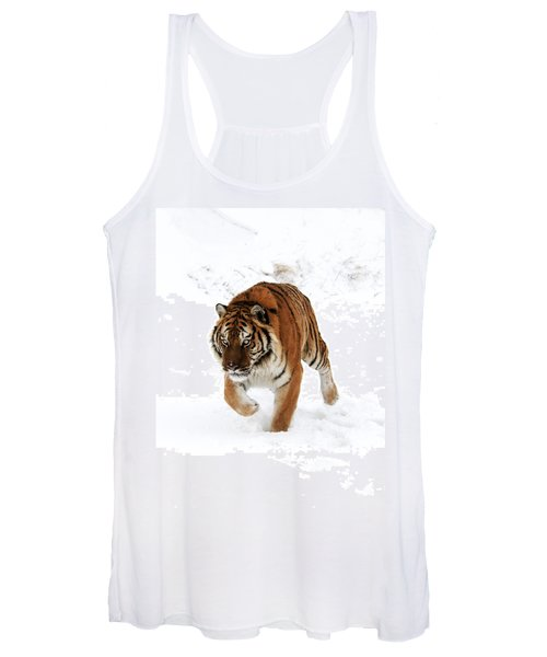 Tiger In Snow Women's Tank Top