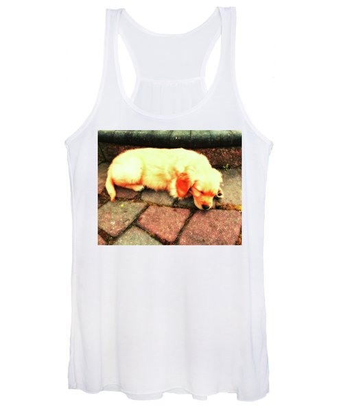 Women's Tank Top featuring the photograph Tilly Resting by John Feiser