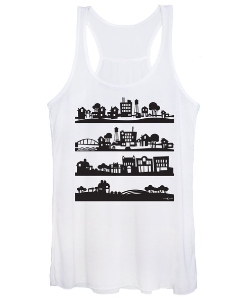 Tinytown Stacked Women's Tank Top