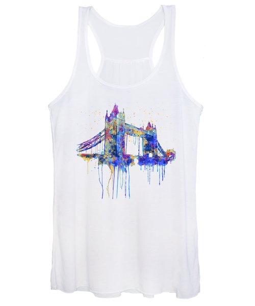 Tower Bridge Watercolor Women's Tank Top