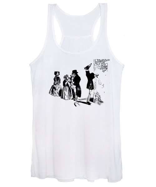 Town Square Grandville Transparent Background Women's Tank Top