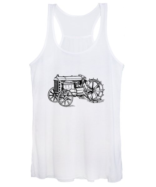Women's Tank Top featuring the photograph Tractor 1919 Henry Ford T-shirt by Edward Fielding