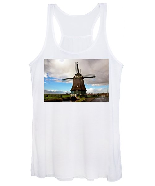 Traditional Dutch Windmill Near Volendam  Women's Tank Top