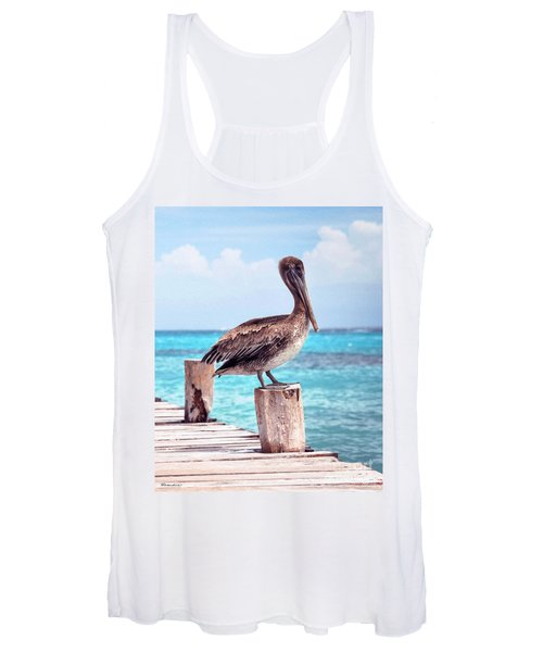 Treasure Coast Pelican Pier Seascape C1 Women's Tank Top