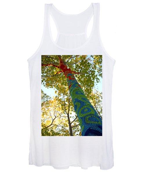 Tree Crochet Women's Tank Top
