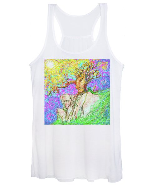 Tree Touches Sky Women's Tank Top
