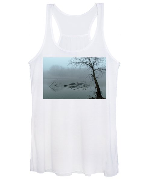 Trees In The Fog On The River Women's Tank Top