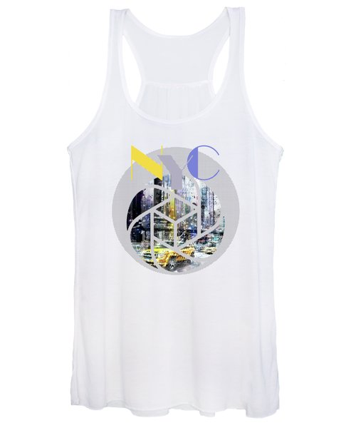 Trendy Design New York City Geometric Mix No 3 Women's Tank Top