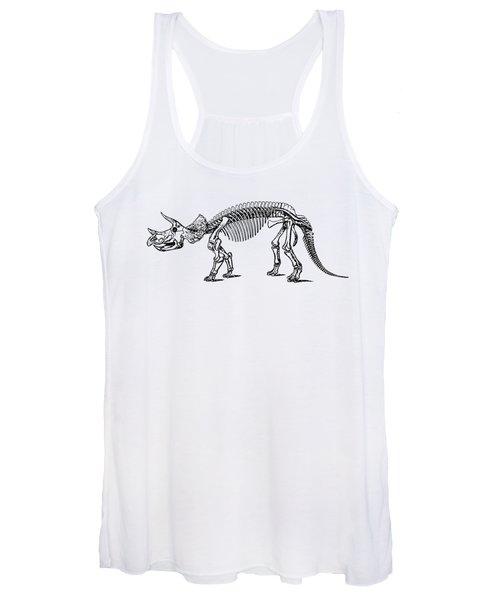 Triceratops Dinosaur Tee Women's Tank Top