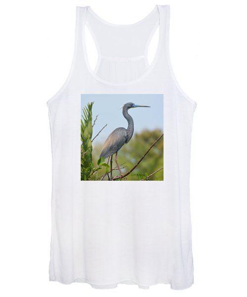 Tricolored Heron Women's Tank Top