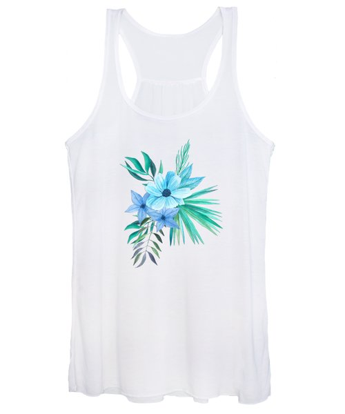 Tropical Watercolor Bouquet 10 Women's Tank Top
