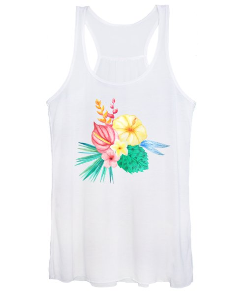 Tropical Watercolor Bouquet 2 Women's Tank Top