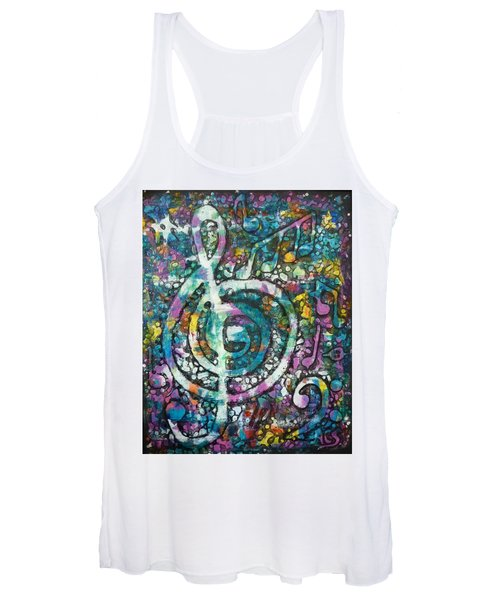 Trouble With Trebles Women's Tank Top