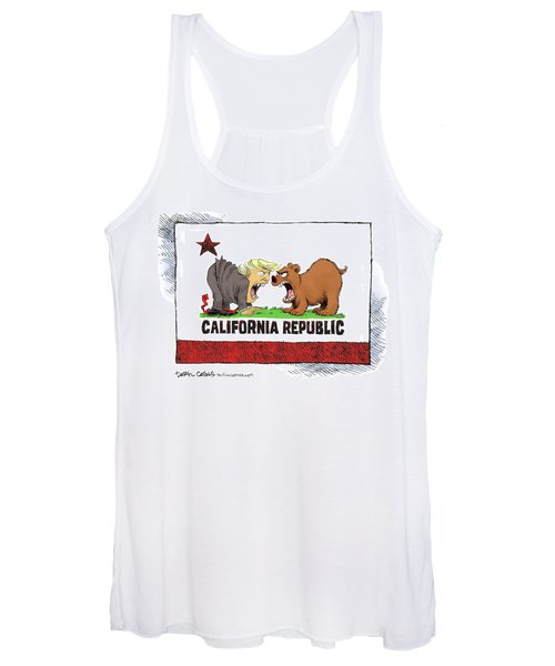 Trump And California Face Off Women's Tank Top