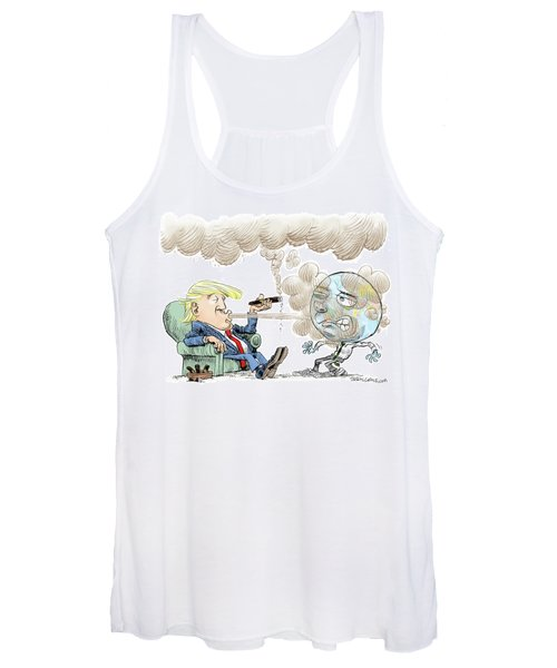 Trump And The World On Climate Women's Tank Top