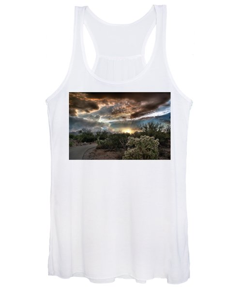 Tucson Mountain Sunset Women's Tank Top