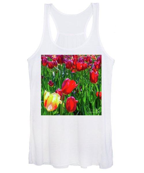 Tulip Garden In Bloom Women's Tank Top