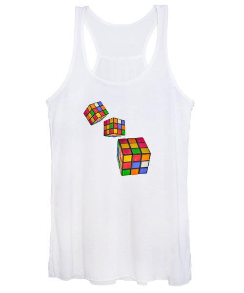Tumbling Cubes Women's Tank Top