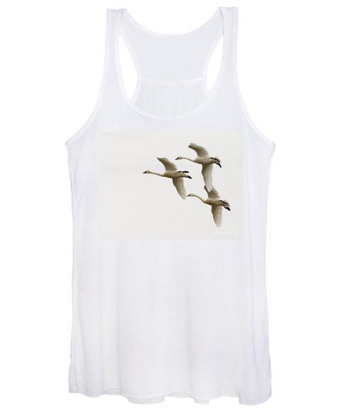 Tundra Swans In Flight 1 Women's Tank Top
