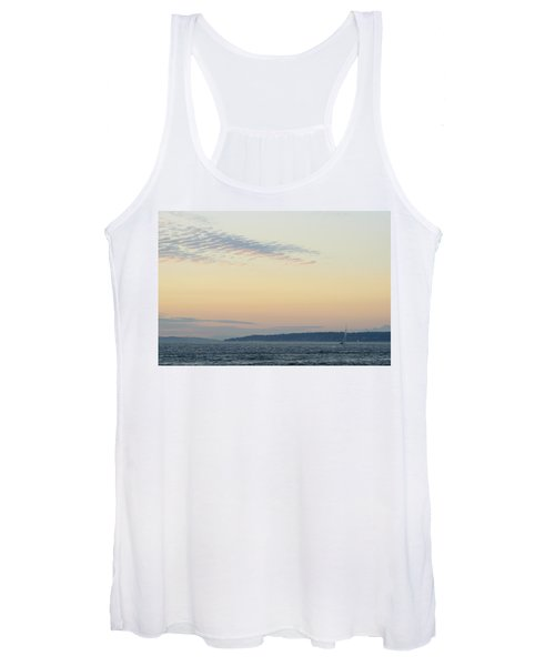 Twilight Moment In Puget Sound Women's Tank Top