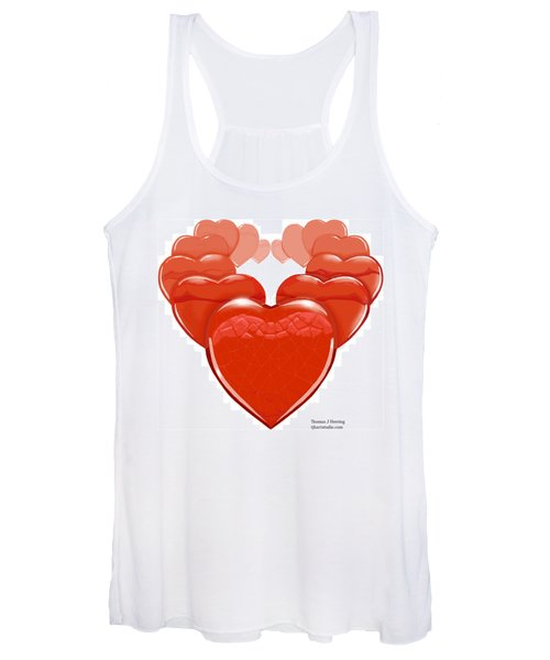 Two Hearts Become One Women's Tank Top