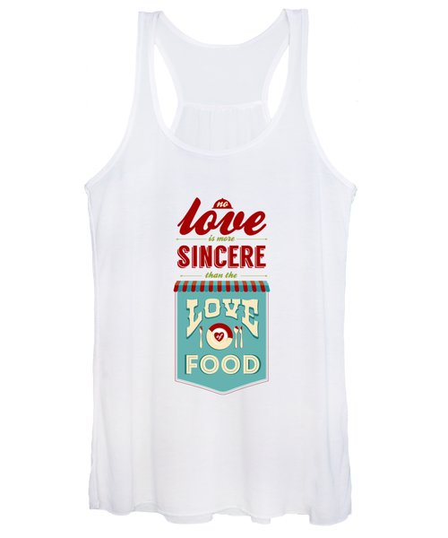 Typography Art Quotes Poster Women's Tank Top
