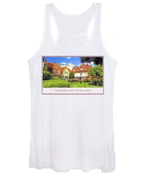 United Kingdom Buildings, Epcot, Walt Disney World Women's Tank Top
