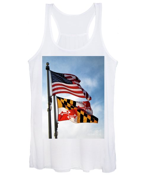Us And Maryland Flags Women's Tank Top