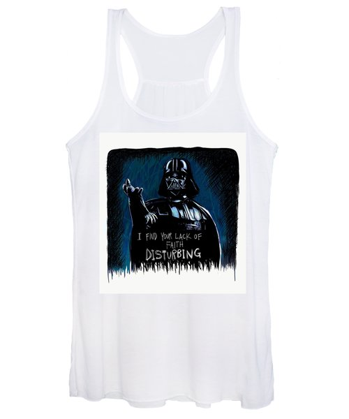 Women's Tank Top featuring the digital art Vader by Antonio Romero