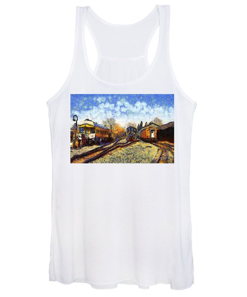 Van Gogh.s Train Station 7d11513 Women's Tank Top