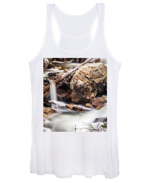 Velvet Falls - Rocky Mountain Stream Women's Tank Top