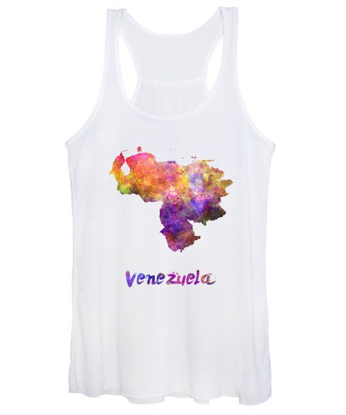 Venezuela In Watercolor Women's Tank Top