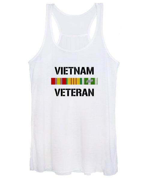 Vietnam Veteran Ribbon Bar - Two Women's Tank Top