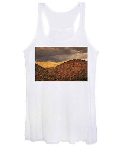View From A Train Txt Women's Tank Top