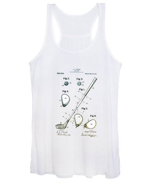 Vintage 1910 Golf Club Patent Women's Tank Top