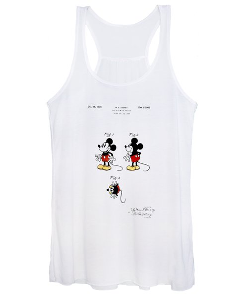 Vintage 1930 Mickey Mouse Patent Women's Tank Top