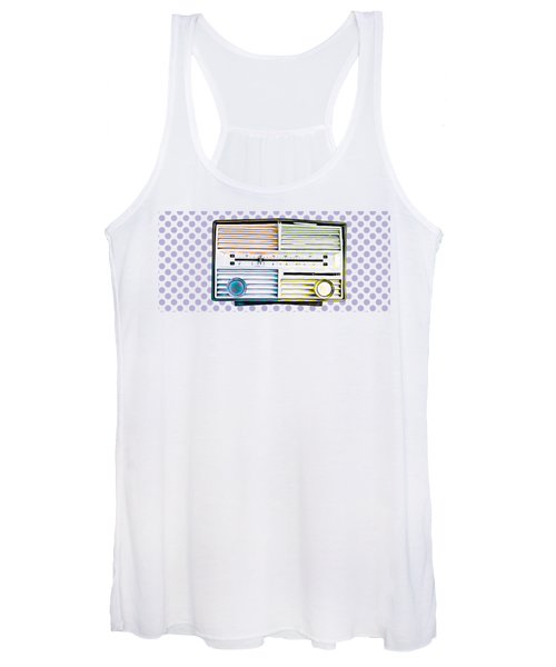 Women's Tank Top featuring the photograph Vintage Radio Purple Dots Mug by Edward Fielding
