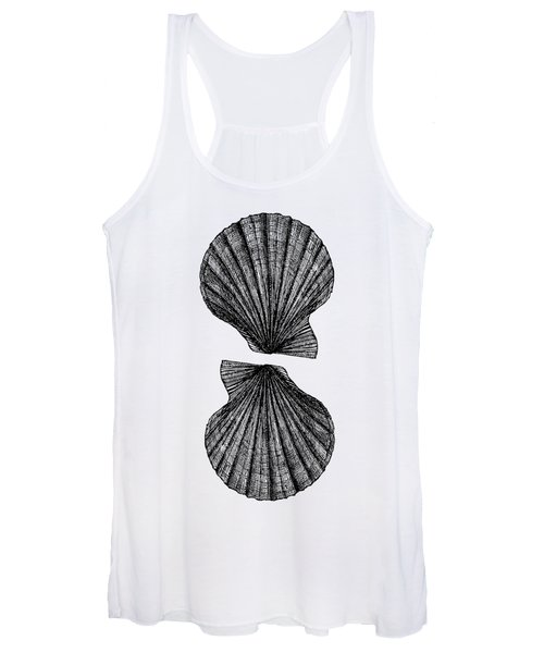 Vintage Scallop Shells Women's Tank Top