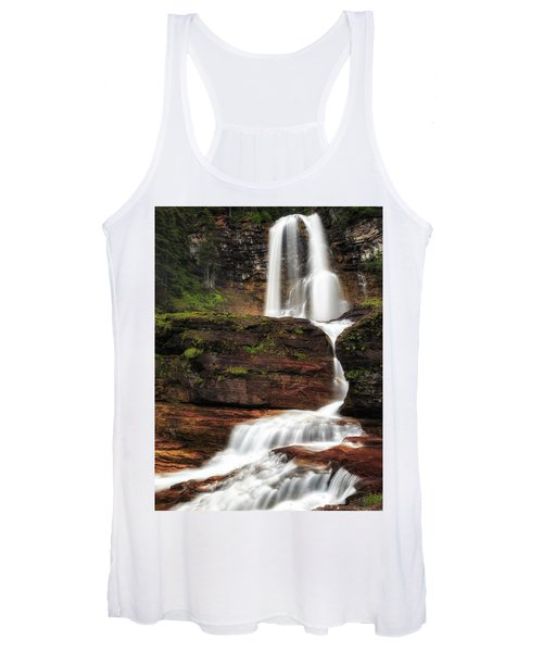 Virginia Falls Glacier National Park Women's Tank Top