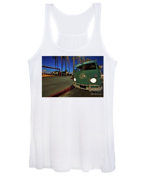 Volkswagen Bus At The Imperial Beach Pier Women's Tank Top