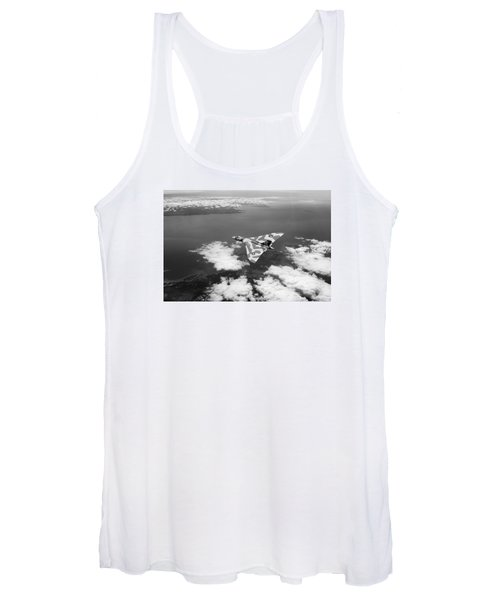 Vulcan Over South Wales Black And White Women's Tank Top
