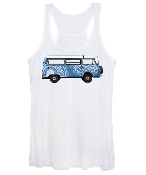 Vw Blue Van Women's Tank Top