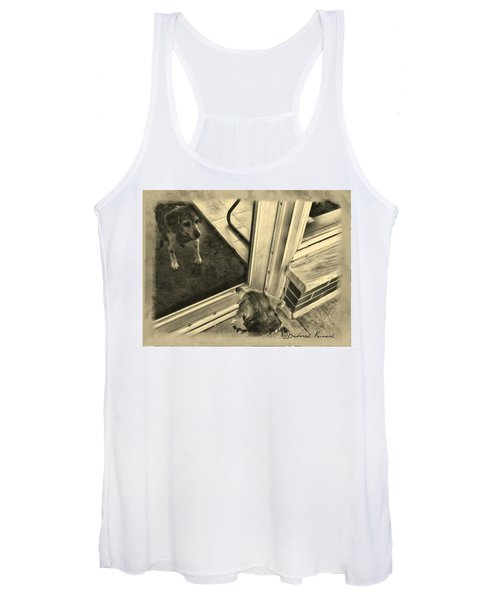 Waiting For Daddy Women's Tank Top