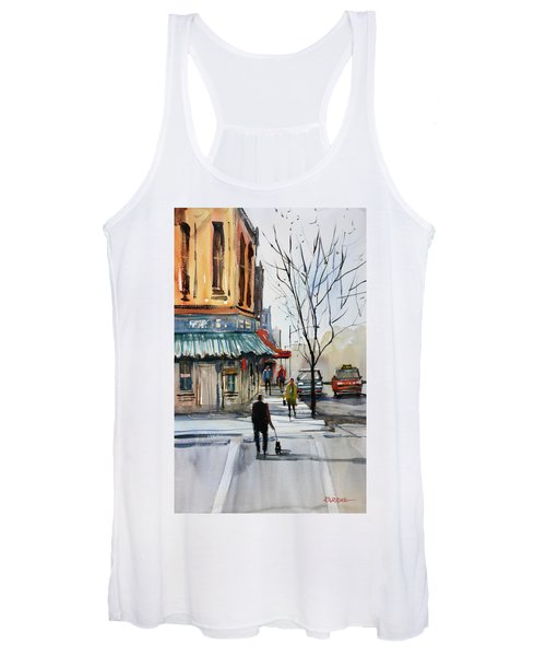 Walking The Dog Women's Tank Top