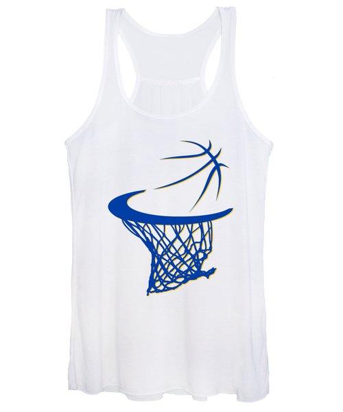 Warriors Basketball Hoop Women's Tank Top